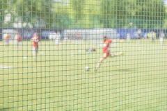 Addestramento di calcio sul campo sportivo Scuola di calcio Sportivi, giocatori di football americano sulla formazione di sport C Fotografia Stock