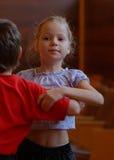 Addestramento di dancing di sport Immagini Stock