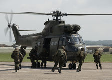Addestramento di esercito britannico Fotografie Stock