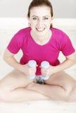 Addestramento di forma fisica della donna Fotografie Stock Libere da Diritti