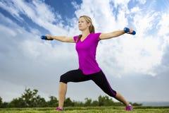 Addestramento di forma fisica di primo mattino Fotografia Stock