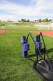 Addestramento di gioco del calcio Fotografia Stock