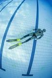 Addestramento di immersione senza scafandro Immagini Stock