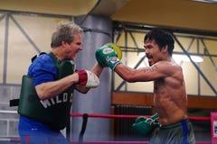 Addestramento di Manny Pacquiao Fotografia Stock Libera da Diritti