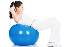 Addestramento di Pilates Fotografia Stock