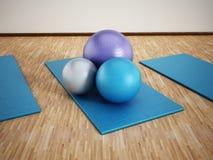 Addestramento di Pilates Immagine Stock