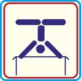 Addestramento di sport del mondo, icona, illustrazioni di vettore Fotografia Stock
