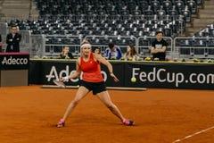 Addestramento di Timea Bacsinszky a Fed Cup Romania 2018 Fotografia Stock