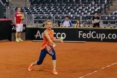 Addestramento di Viktorija Golubic a Fed Cup 2018 Immagine Stock