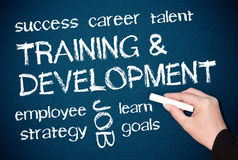 Addestramento e sviluppo   Fotografie Stock