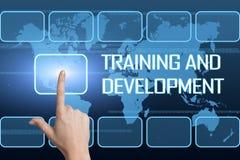Addestramento e sviluppo illustrazione di stock