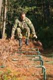 Addestramento fisico militare Fotografia Stock
