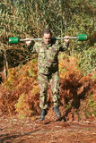 Addestramento fisico militare Fotografia Stock Libera da Diritti