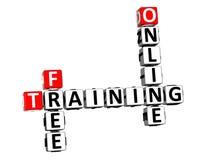 addestramento libero delle parole incrociate della rappresentazione 3D online sopra Backgroun bianco illustrazione vettoriale