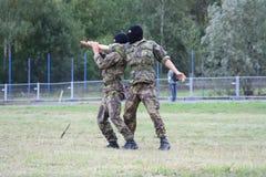 Addestramento militare Fotografie Stock