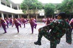 Addestramento militare per il conferenziere Immagine Stock