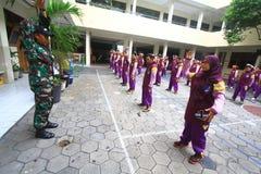 Addestramento militare per il conferenziere Immagini Stock