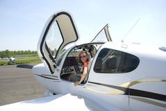 Addestramento pilota Fotografia Stock Libera da Diritti
