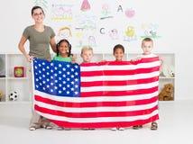 Addestramento preliminare americano Fotografia Stock Libera da Diritti