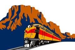 Addestri il viaggio con il canyon Immagine Stock