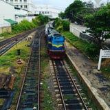 Addestri la locomotiva Fotografie Stock Libere da Diritti