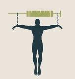 Addicitions-Metapher-Vektorillustration Lizenzfreie Stockbilder
