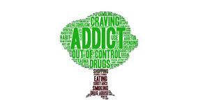 Addict animated word cloud royalty free illustration