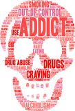 Addict Word Cloud Royalty Free Stock Photo