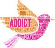 Addict Word Cloud Stock Images