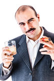 Addicted businessman Stock Photography