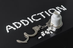 Addicted to drugs royalty free stock images