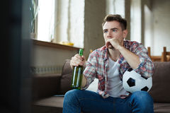 Addicted to football Stock Images