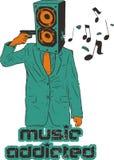 Addicted to Music Stock Image