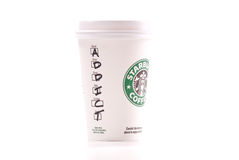 Addicted to Starbucks Coffee Royalty Free Stock Photography