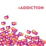 #addiction Imagen de archivo libre de regalías
