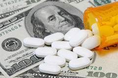 Addiction. To expensive prescription pills Royalty Free Stock Image