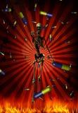 Addiction. Evil points, rain of pills - Addiction royalty free illustration