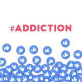 #addiction 向量例证