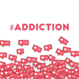 #addiction Fotografía de archivo