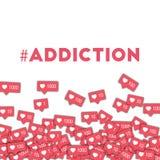 #addiction 皇族释放例证