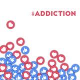 #addiction Foto de archivo libre de regalías