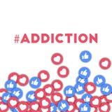 #addiction 库存例证