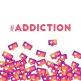#addiction Imágenes de archivo libres de regalías