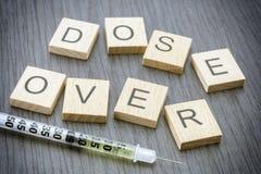 Addiction, Cocaine line track, syringe. Heroin Stock Photos