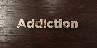 Addiction - grungy wooden headline on Maple  - 3D rendered royalty free stock image. This image can be used for an online website banner ad or a print postcard Royalty Free Stock Images