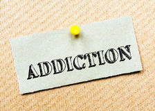 Addiction Message. Concept Image Royalty Free Stock Photo