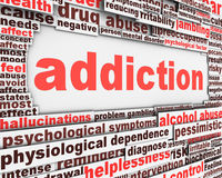Addiction message design. Substance or drug dependence conceptual design Stock Images