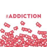 #addiction. Royalty Free Stock Photos