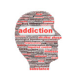 Addiction symbol concept. Substance or drug dependence conceptual design Royalty Free Stock Photography