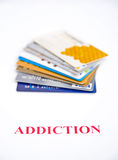 Addiction to credit ? Stock Photos
